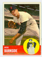 1963 Topps Baseball 19 Pete Burnside Baltimore Orioles Very Good