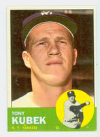 1963 Topps Baseball 20 Tony Kubek New York Yankees Excellent to Mint