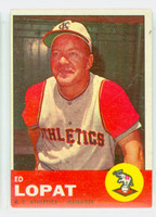 1963 Topps Baseball 23 Ed Lopat Kansas City Athletics Fair to Poor