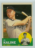 1963 Topps Baseball 25 Al Kaline Detroit Tigers Excellent to Mint