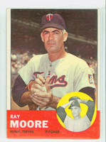 1963 Topps Baseball 26 Ray Moore Minnesota Twins Good to Very Good