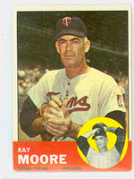1963 Topps Baseball 26 Ray Moore Minnesota Twins Very Good