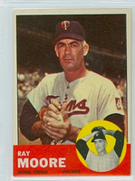1963 Topps Baseball 26 Ray Moore Minnesota Twins Excellent to Mint