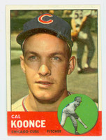 1963 Topps Baseball 31 Cal Koonce Chicago Cubs Excellent
