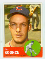 1963 Topps Baseball 31 Cal Koonce Chicago Cubs Excellent to Excellent Plus