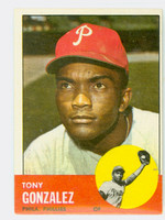 1963 Topps Baseball 32 Tony Gonzalez Philadelphia Phillies Excellent