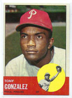1963 Topps Baseball 32 Tony Gonzalez Philadelphia Phillies Excellent to Mint