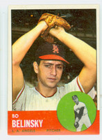 1963 Topps Baseball 33 Bo Belinsky Los Angeles Angels Excellent