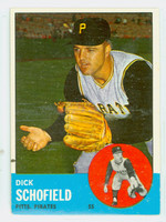 1963 Topps Baseball 34 Dick Schofield Pittsburgh Pirates Excellent