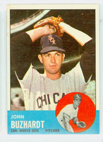 1963 Topps Baseball 35 John Buzhardt Chicago White Sox Excellent to Excellent Plus