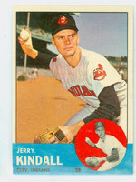 1963 Topps Baseball 36 Jerry Kindall Cleveland Indians Excellent
