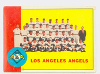 1963 Topps Baseball 39 Angels Team Good to Very Good