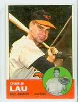1963 Topps Baseball 41 Charlie Lau Baltimore Orioles Excellent