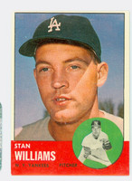 1963 Topps Baseball 42 Stan Williams New York Yankees Excellent to Mint