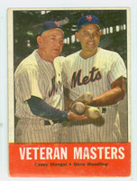 1963 Topps Baseball 43 Veteran Masters New York Mets Very Good