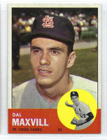 1963 Topps Baseball 49 Dal Maxvill St. Louis Cardinals Excellent to Excellent Plus