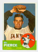 1963 Topps Baseball 50 Bill Pierce San Francisco Giants Excellent to Mint