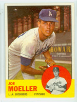 1963 Topps Baseball 53 Joe Moeller Los Angeles Dodgers Very Good to Excellent