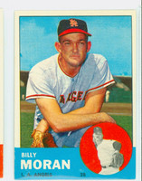1963 Topps Baseball 57 Billy Moran Los Angeles Angels Excellent to Excellent Plus