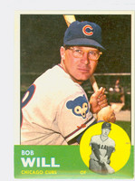 1963 Topps Baseball 58 Bob Will Chicago Cubs Excellent to Excellent Plus