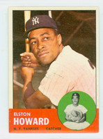 1963 Topps Baseball 60 Elston Howard New York Yankees Excellent to Mint