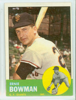 1963 Topps Baseball 61 Ernie Bowman San Francisco Giants Excellent