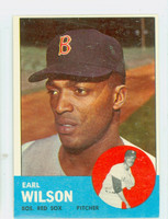 1963 Topps Baseball 76 Earl Wilson Boston Red Sox Excellent to Excellent Plus