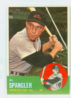 1963 Topps Baseball 77 Al Spangler Houston Colts Excellent to Excellent Plus