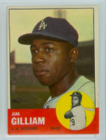 1963 Topps Baseball 80 Jim Gilliam Los Angeles Dodgers Excellent