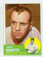 1963 Topps Baseball 81 Jimmie Schaffer Chicago Cubs Excellent to Excellent Plus