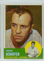 1963 Topps Baseball 81 Jimmie Schaffer Chicago Cubs Excellent to Mint