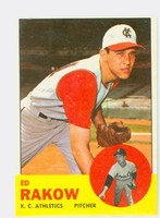 1963 Topps Baseball 82 Ed Rakow Kansas City Athletics Excellent to Excellent Plus