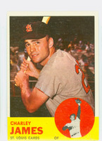 1963 Topps Baseball 83 Charley James St. Louis Cardinals Excellent to Excellent Plus