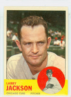 1963 Topps Baseball 95 Larry Jackson Chicago Cubs Excellent to Excellent Plus