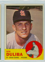 1963 Topps Baseball 97 Bob Duliba Boston Red Sox Excellent to Mint