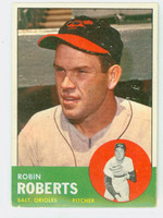 1963 Topps Baseball 125 Robin Roberts Baltimore Orioles Very Good