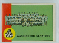 1963 Topps Baseball 131 Senators Team Very Good to Excellent