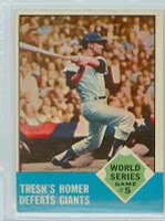1963 Topps Baseball 146 World Series GM 5 Excellent