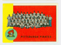 1963 Topps Baseball 151 Pirates Team Excellent