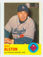 1963 Topps Baseball 154 Walt Alston Los Angeles Dodgers Excellent