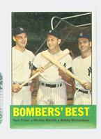 1963 Topps Baseball 173 Bombers Best Very Good to Excellent
