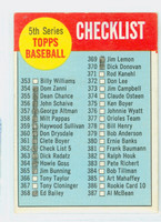 1963 Topps Baseball 362 Checklist Five Poor