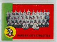 1963 Topps Baseball 397 Athletics Team Very Good to Excellent
