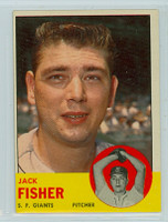 1963 Topps Baseball 474 Jack Fisher Tough Series San Francisco Giants Very Good to Excellent