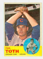 1963 Topps Baseball 489 Paul Toth Tough Series Chicago Cubs Very Good to Excellent