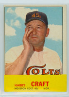 1963 Topps Baseball 491 Harry Craft Tough Series Houston Colts Very Good to Excellent