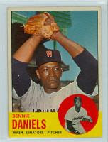1963 Topps Baseball 497 Bennie Daniels Tough Series Washington Senators Very Good to Excellent