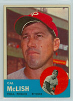 1963 Topps Baseball 512 Cal McLish Tough Series Philadelphia Phillies Excellent