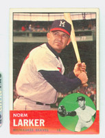 1963 Topps Baseball 536 Norm Larker High Number Milwaukee Braves Very Good to Excellent