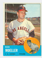 1963 Topps Baseball 541 Ron Moeller High Number Los Angeles Angels Very Good to Excellent